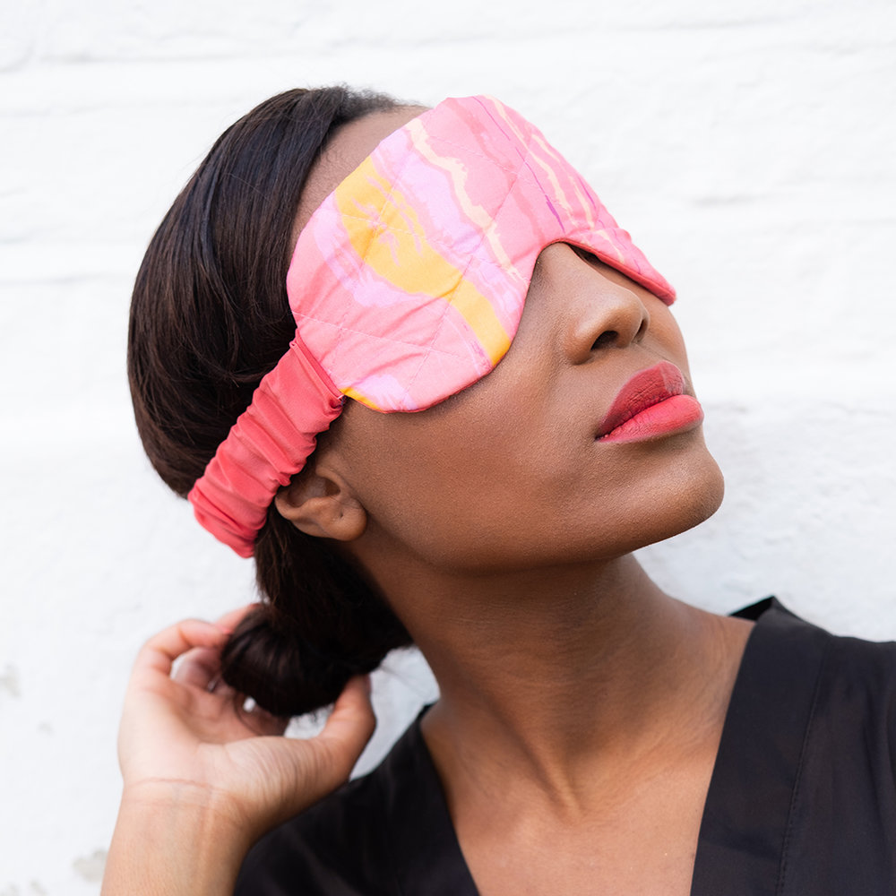 Eleuthera Waves Eye Mask, £34
