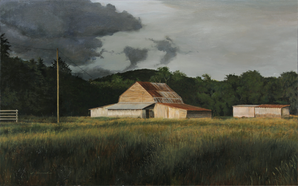 """""""Storm Clouds Over Boone"""" will be offered for sale at the Blowing Rock Frameworks & Gallery in June."""
