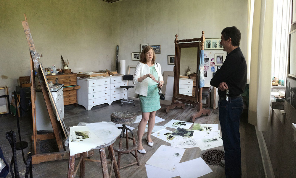 Ginny Logan offers insights and details on Andrew Wyeth in his studio.