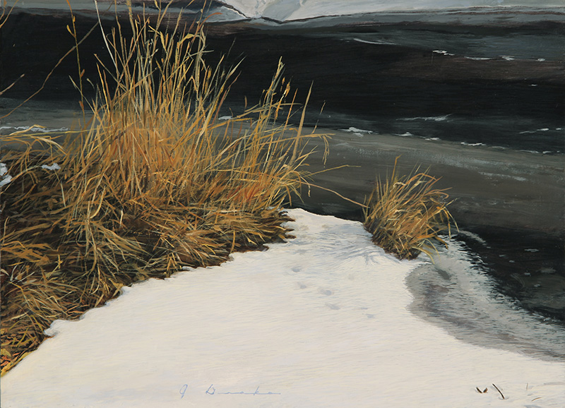 "New River Thaw    - 12 x 16"", oil Sold"
