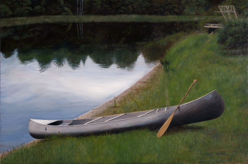 "Beavertail Paddle    - 24 x 36"", oil Sold"