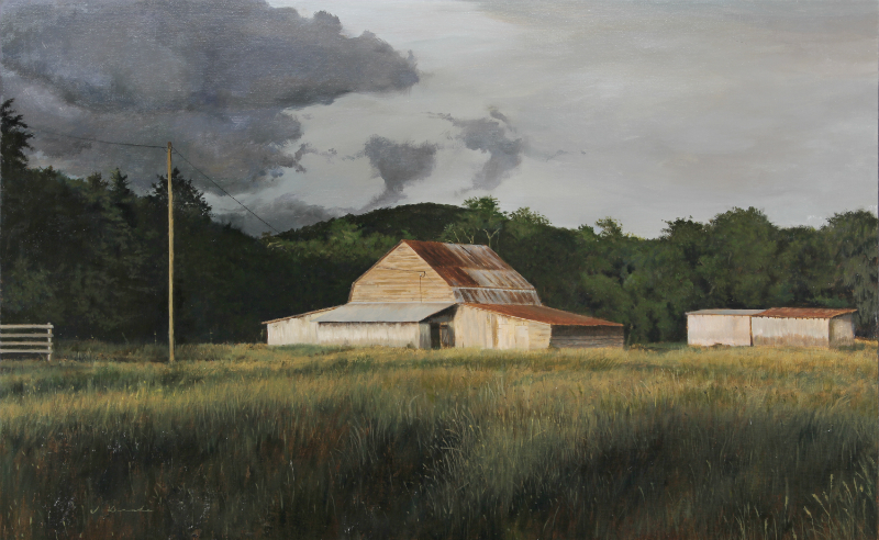 "Storm Clouds Over Boone -    oil, 26 x 40"" Sold"