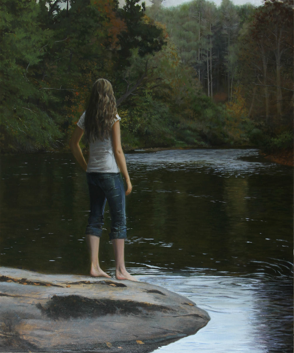 Upstream    - oil on linen Sold