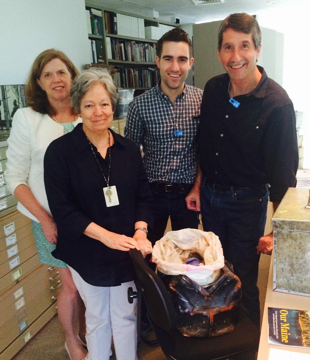 With Ginny Logan, Mary Landa, and my son Jordan