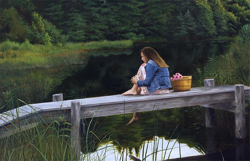 """Evening Solitude    - oil, 26 x 42"""""""