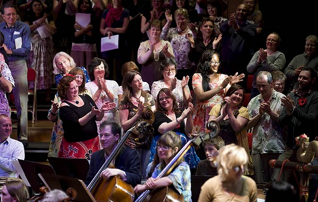 Mind & Soul Choir singing in John Browne's 'A Nightingale Sang' at the Queen Elizabeth Hall in 2011