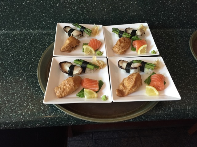 A dish of food from our recent Inner Meals experience in the Mission District at We Be Sushi.