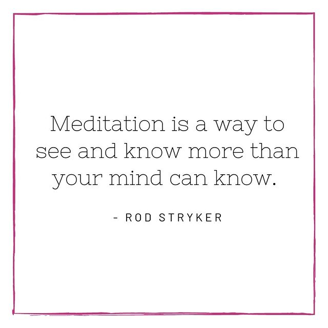 Meditation is a way to see and know more than your mind can know. - @yogaruparodstryker  Excited to begin our three part series: Monday Meditations in May at @ebbandflowyogastudio . Still time to register for all three or plan to drop in for just one of them. (Link in Bio)  PS Rod has a new app called Sanctuary on iTunes and it's incredible for those interested in meditation and yoga Nidra.