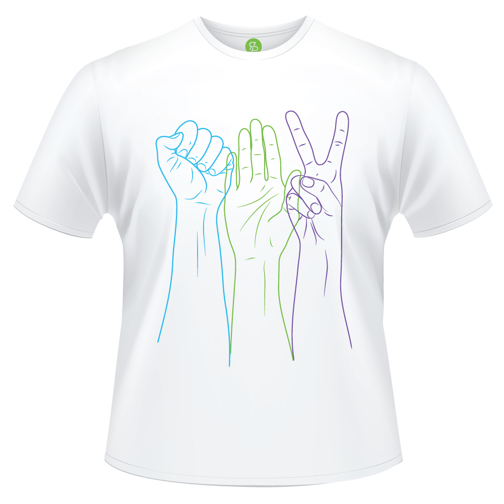 ROCK PAPER SCISSORS - Hands Tee
