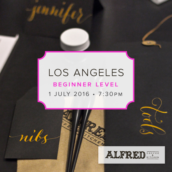 Los Angeles California Alfred Coffee Modern Calligraphy Workshop