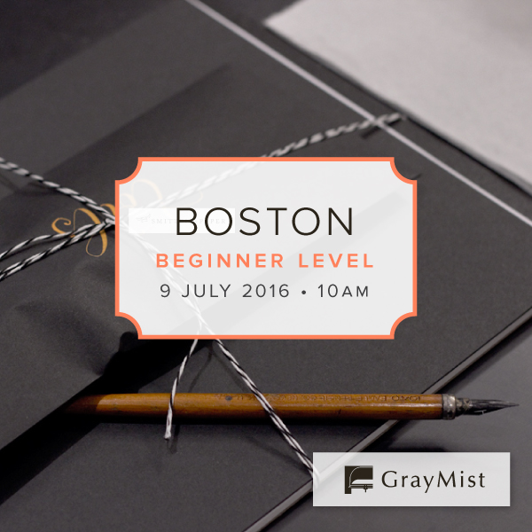 Boston Beginner Modern Calligraphy Workshop