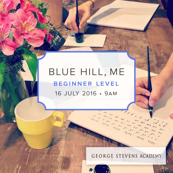 Blue Hill Maine Modern Calligraphy Workshop