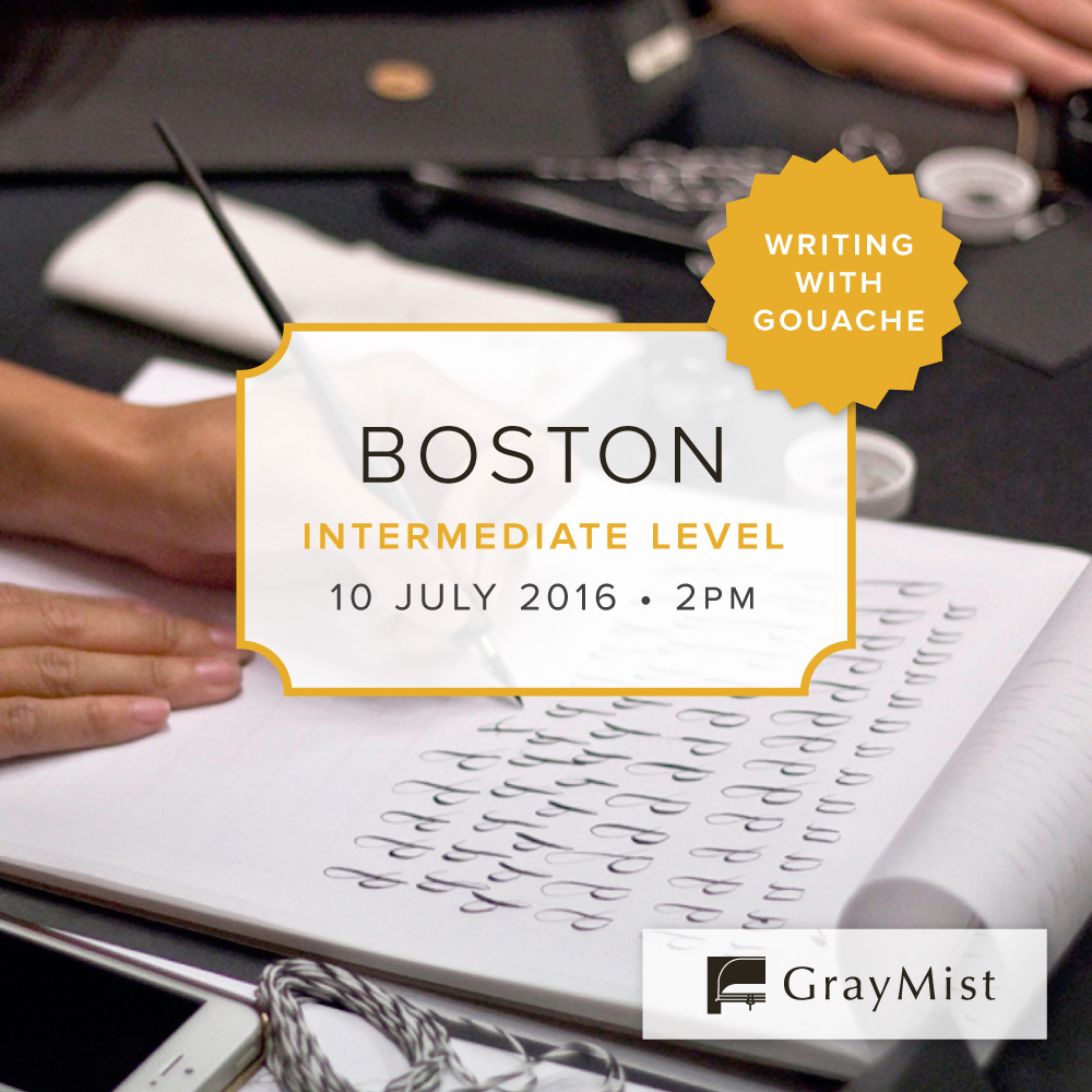 Boston Intermediate Modern Calligraphy Workshop
