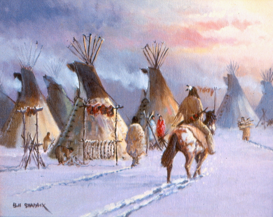 BILL SHADDIX- WINTER CAMP OF THE SIOUX.jpg