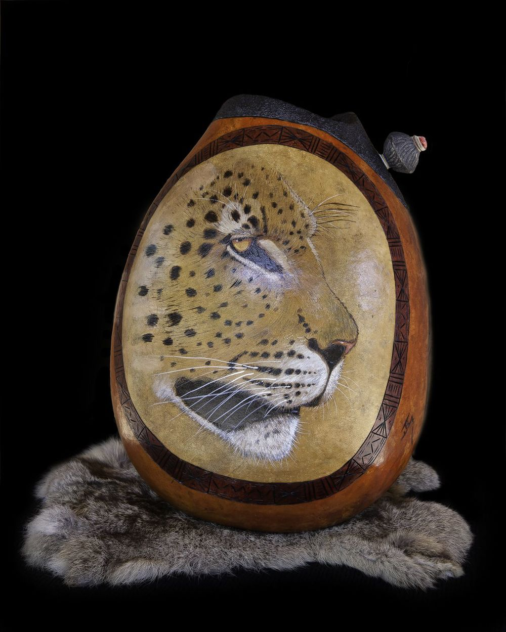 Jane Boggs  Mixed Media Gourds