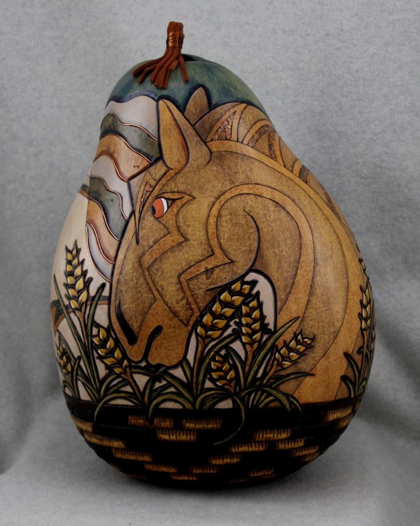 Heather Kinkade  Gourd Sculptures