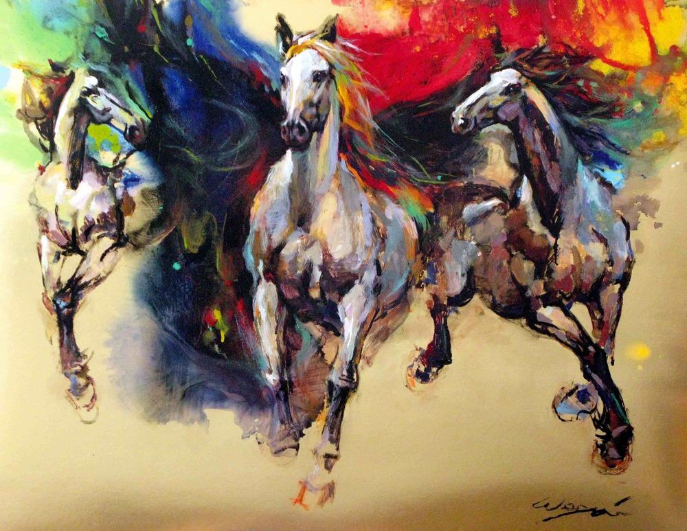 Wei Tai  Oils on Canvas