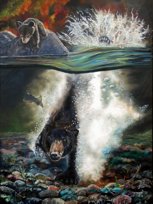 T.J. Thompson  Acrylics & Oils on Canvas