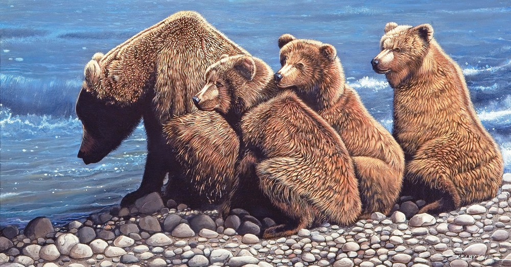 """Bear and Cubs"