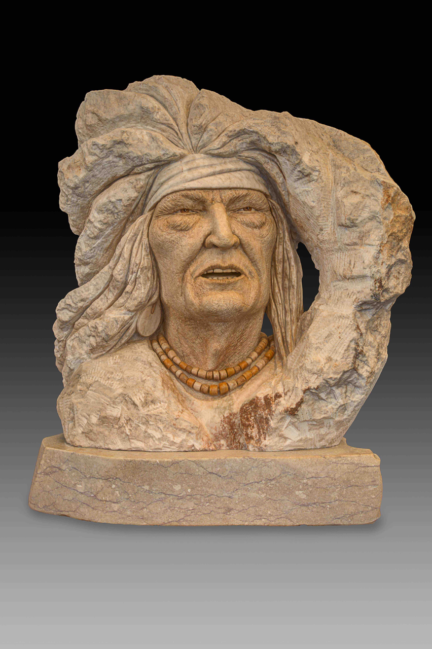 """Apache Warrior"" H26 x W24 x D12"