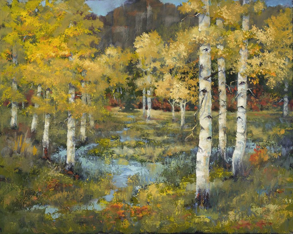 Aspens with Red Oak_24x30.jpg