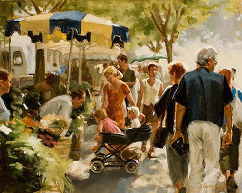 """Saturday Market in Arles"""