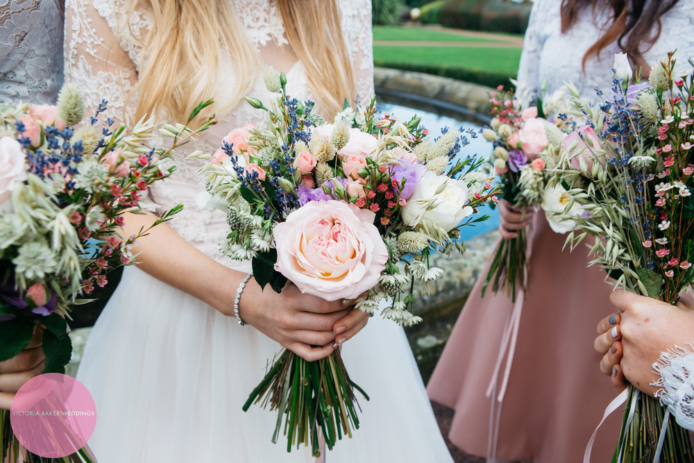 Bridesmaids and wedding flowers
