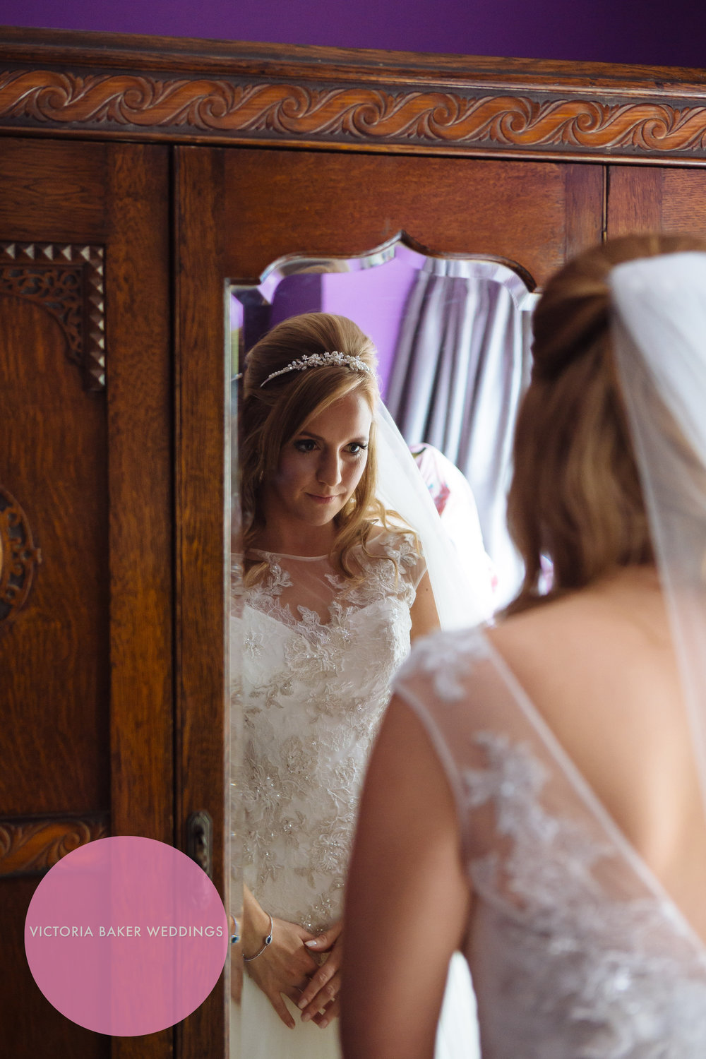 Best Wedding Photographs of 2016 - Bride in mirror