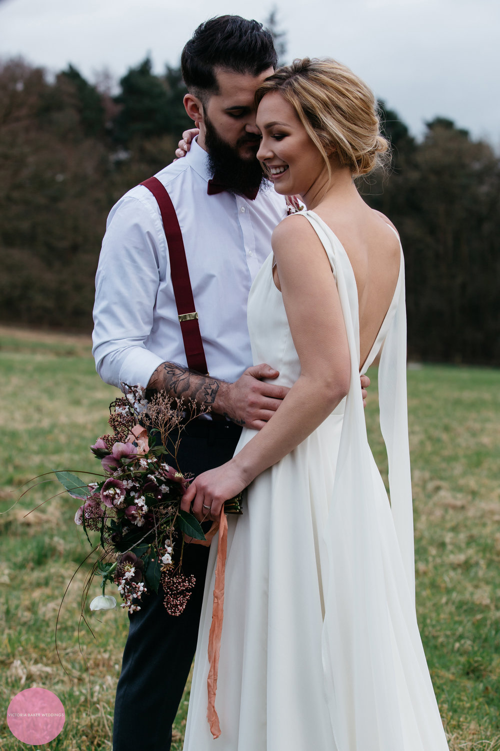 April & Christ at Camp Katur North Yorkshire Wedding