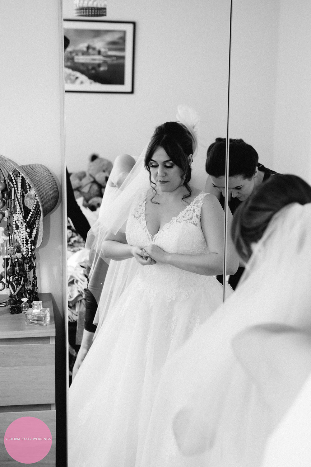 Bride getting ready | Creative wedding photography Leeds