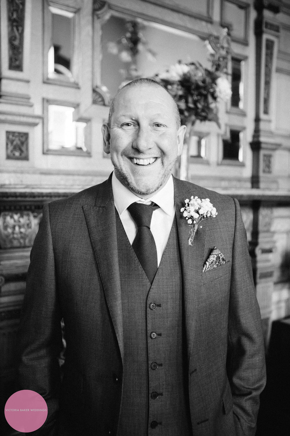Father of the Bride smiling | Creative Wedding Photography Leeds