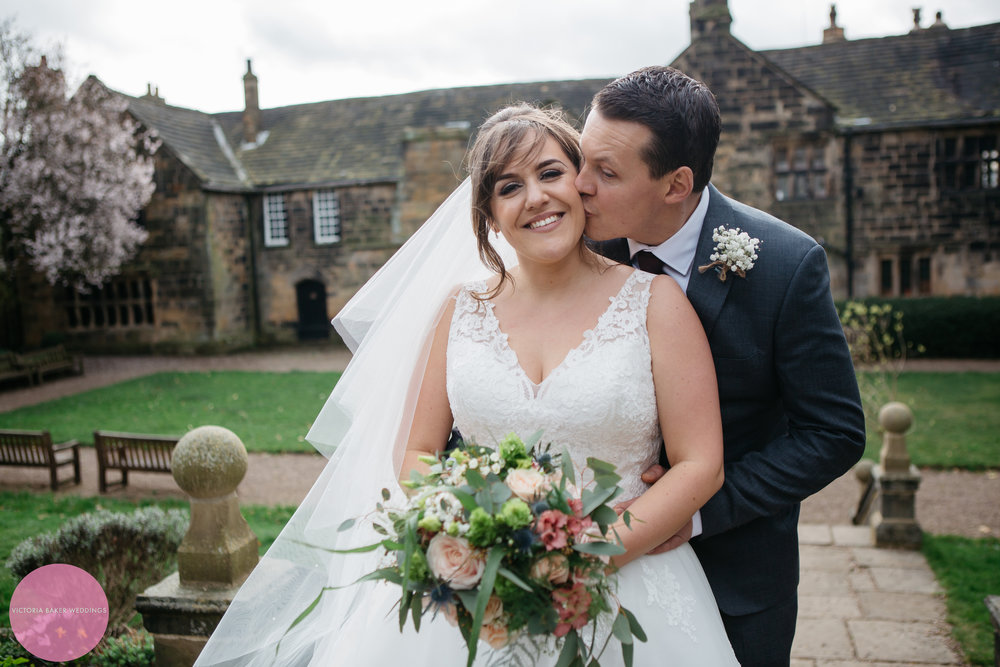 Bride and Groom Oakwell Hall Leeds