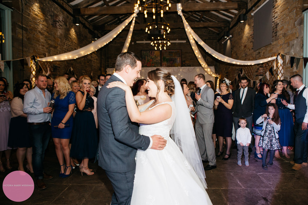 Bride and Groom First Dance at Oakwell Hall Leeds