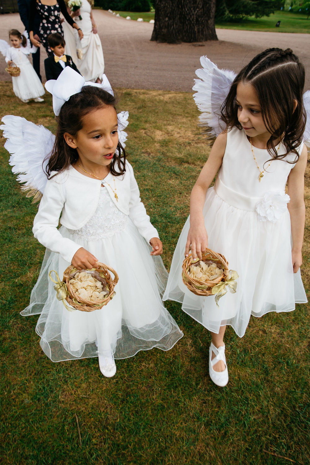 Flower Girls at Moor Park Rickmansworth, Hertfordshire