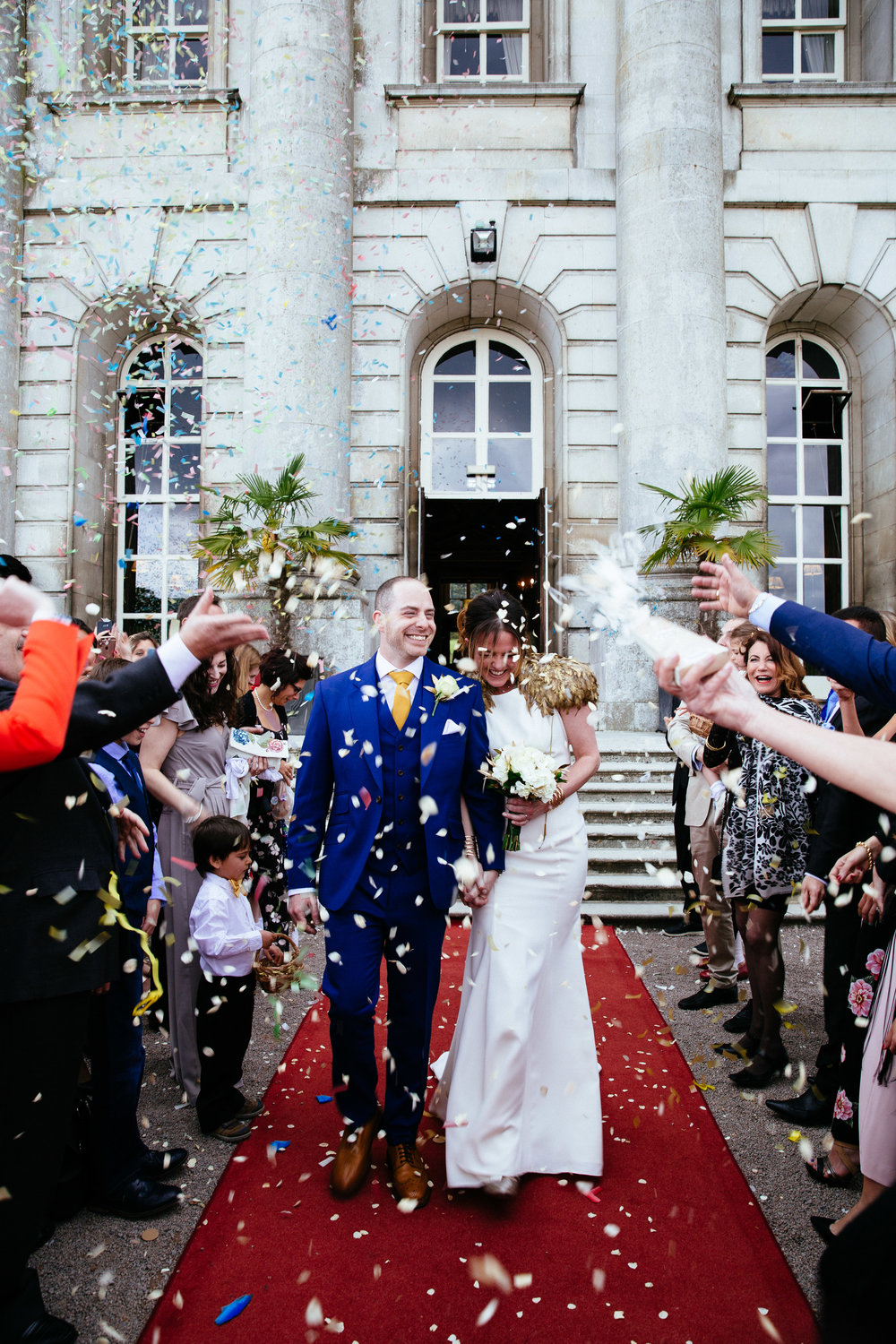 Confetti Shot at Moor Park Golf Club Rickmansworth