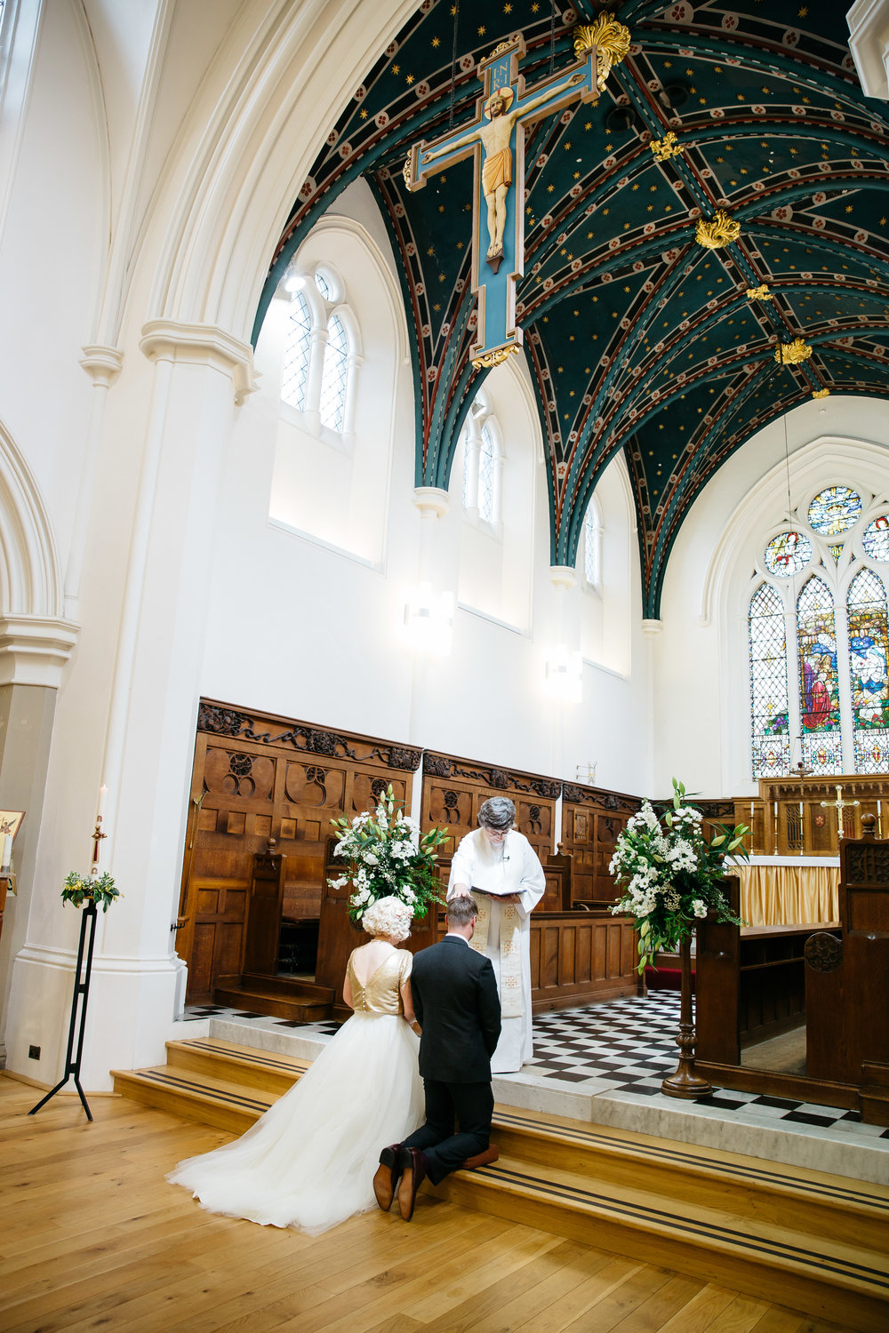 Wedding ceremony at Christ church Skipton North Yorkshire