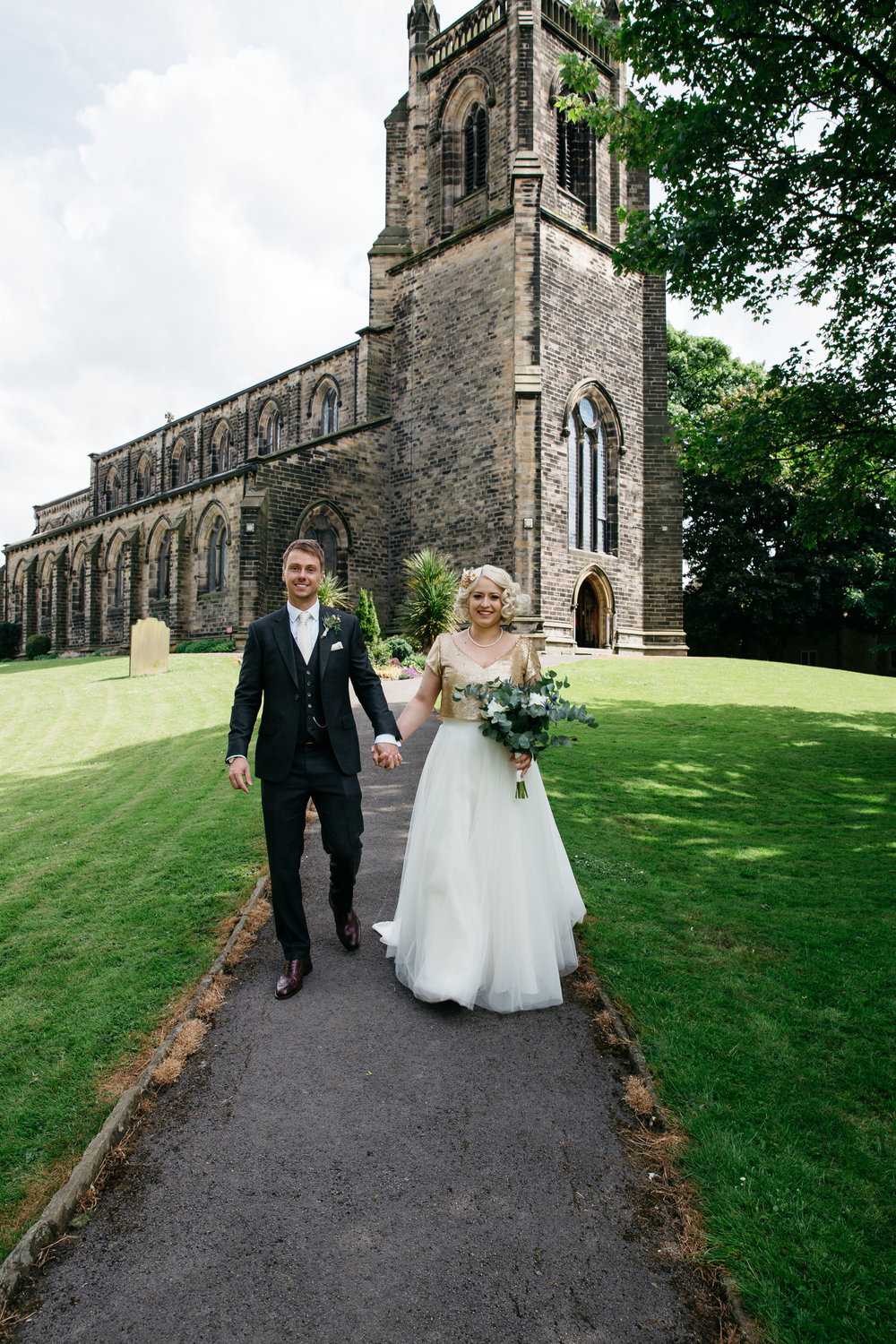 Just Married at Christ Church North Yorkshire