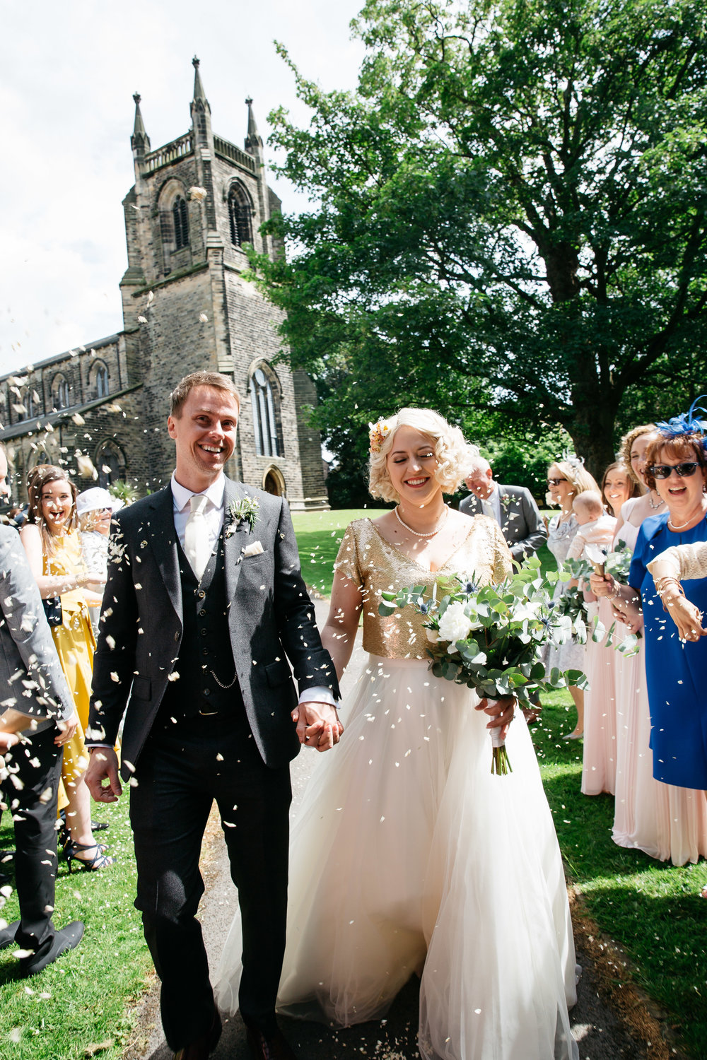 Confetti shot at Christ Church Skipton