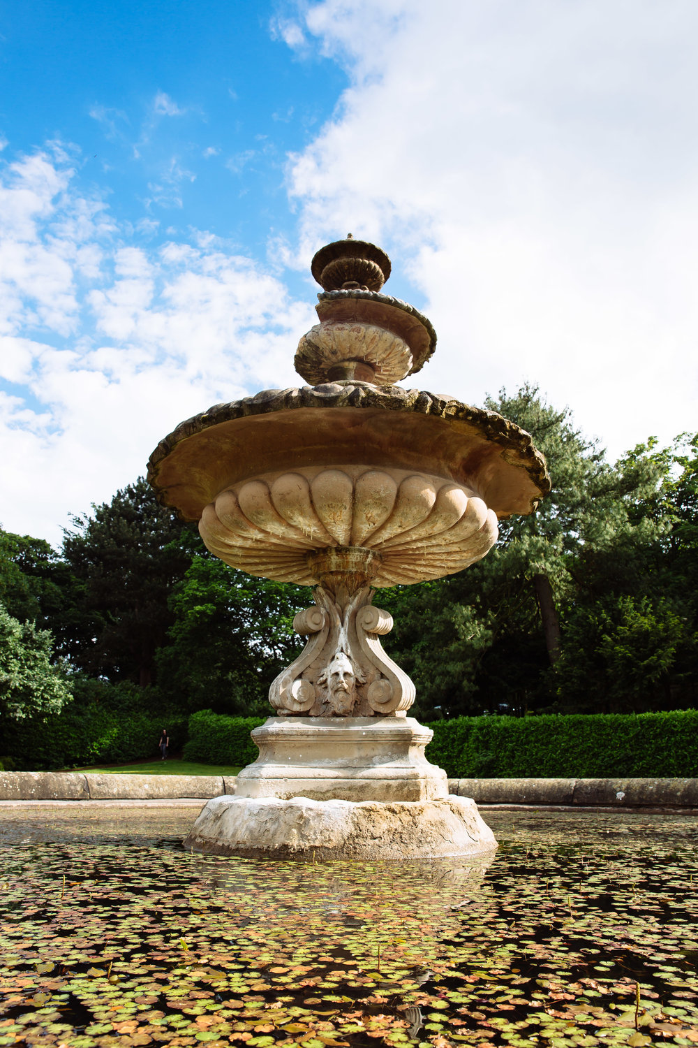 Fountain at Oulton Hall Leeds Wedding Photographer Leeds