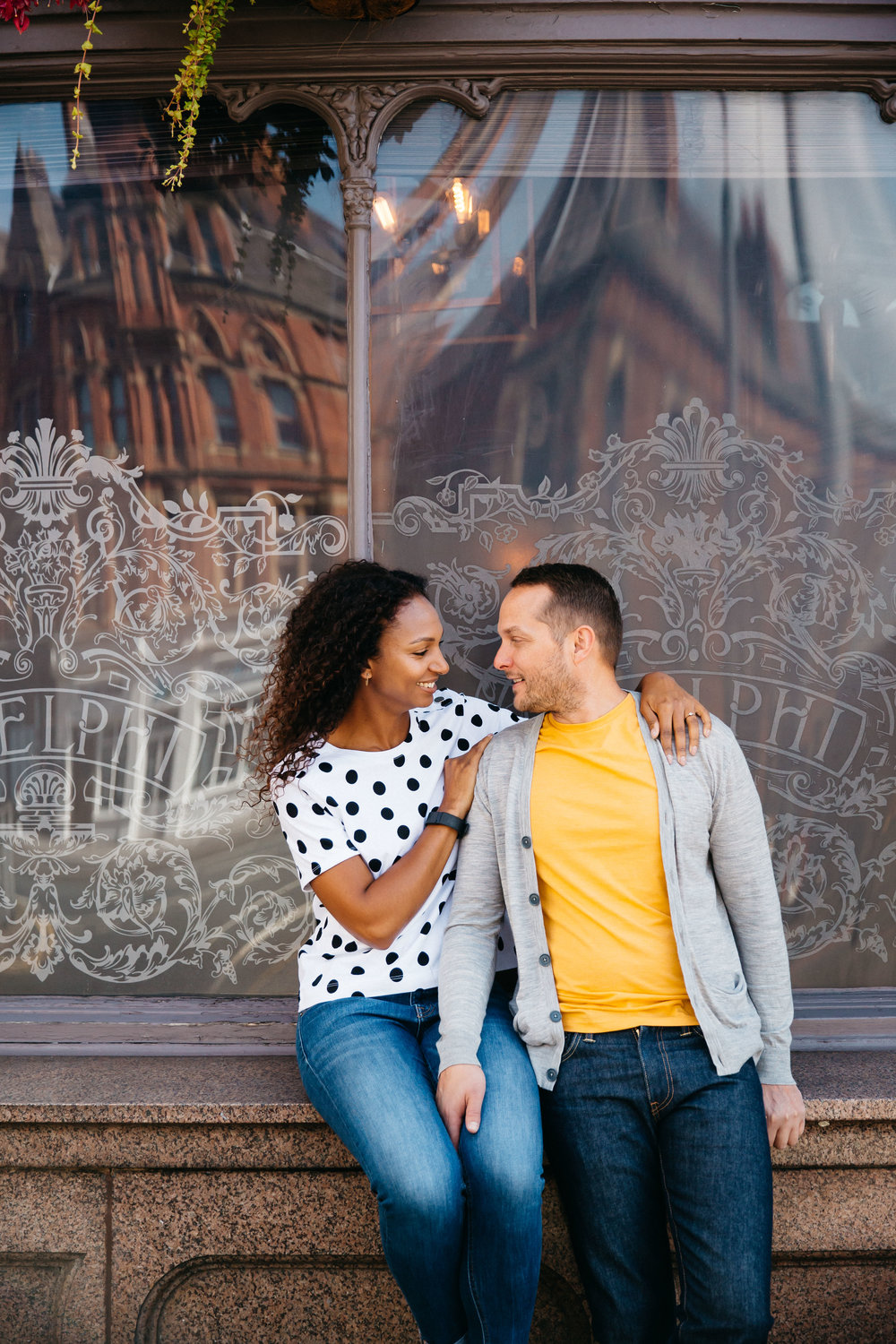 Leicia & Dan's engagement shoot at The Adelphi Leeds