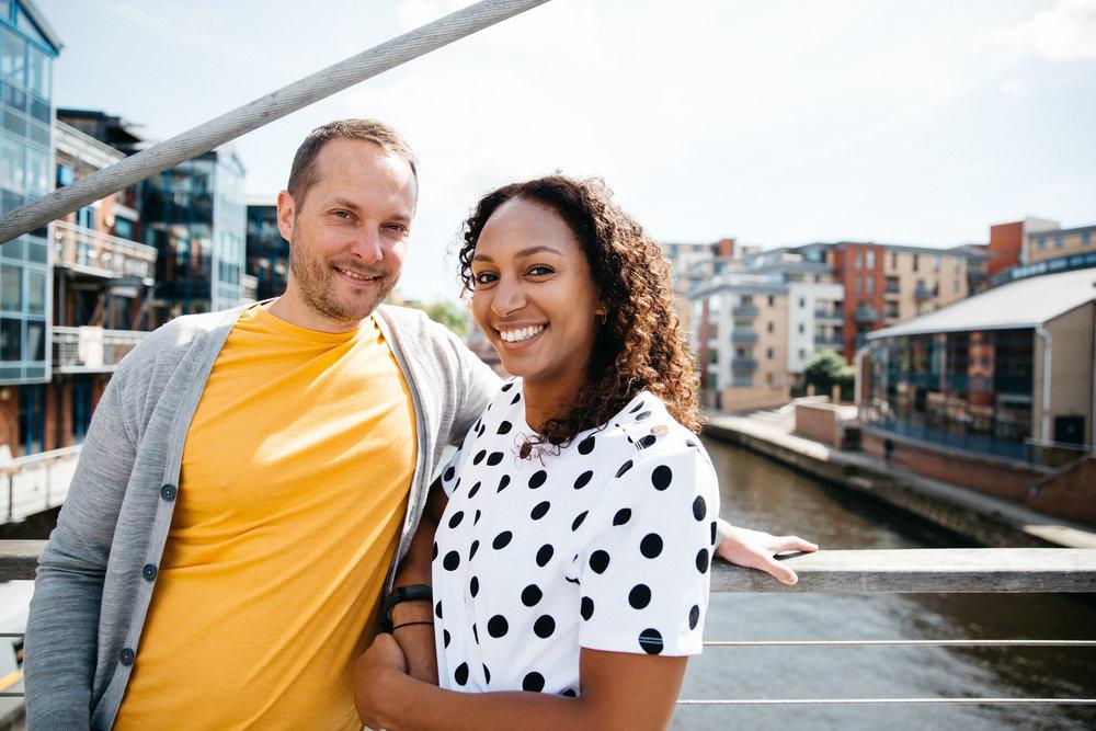 Leicia & Dan engagement shoot Leeds City Centre