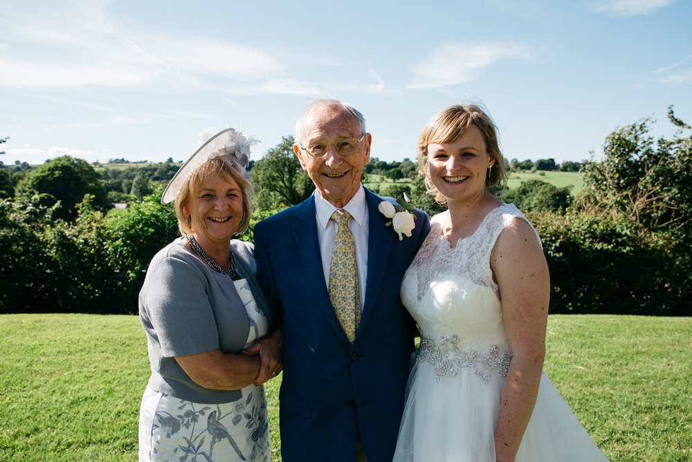 Three Generations portrait wedding North Yorkshire