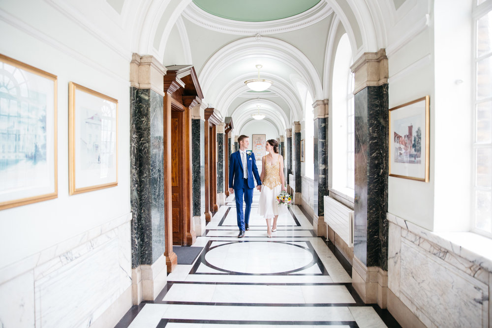 Alice & James Just married at Islington Town Hall London Wedding Photographer