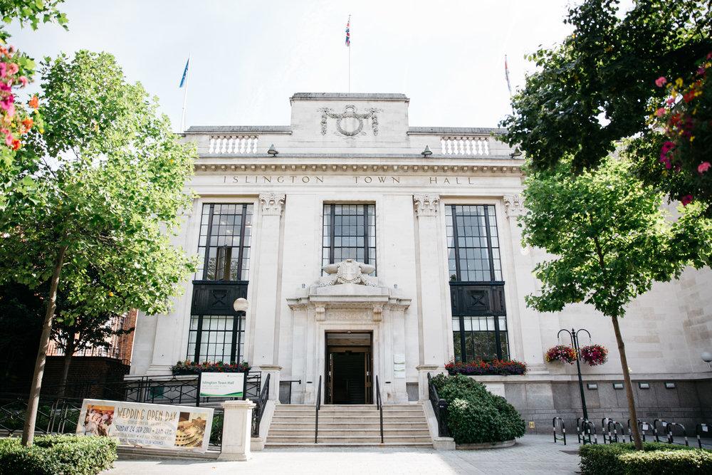 Islington Town Hall London - London Wedding Photographer