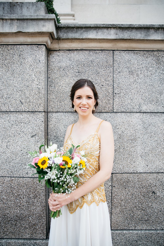 Bride Alice at Islington Town Hall - London Wedding