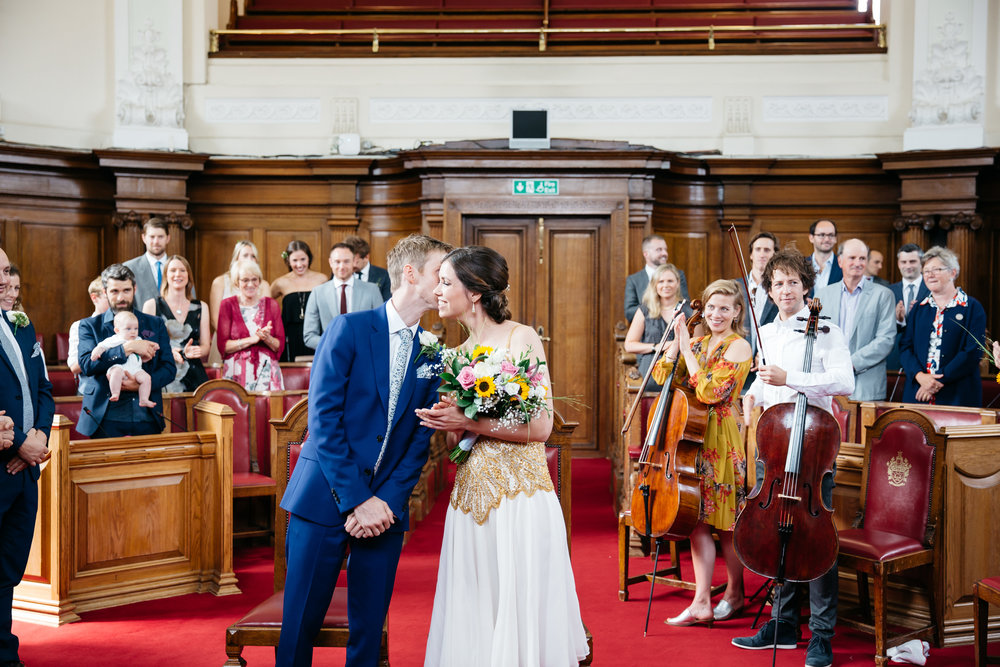 Bride and Groom get married at Islington Town Hall - London Wedding