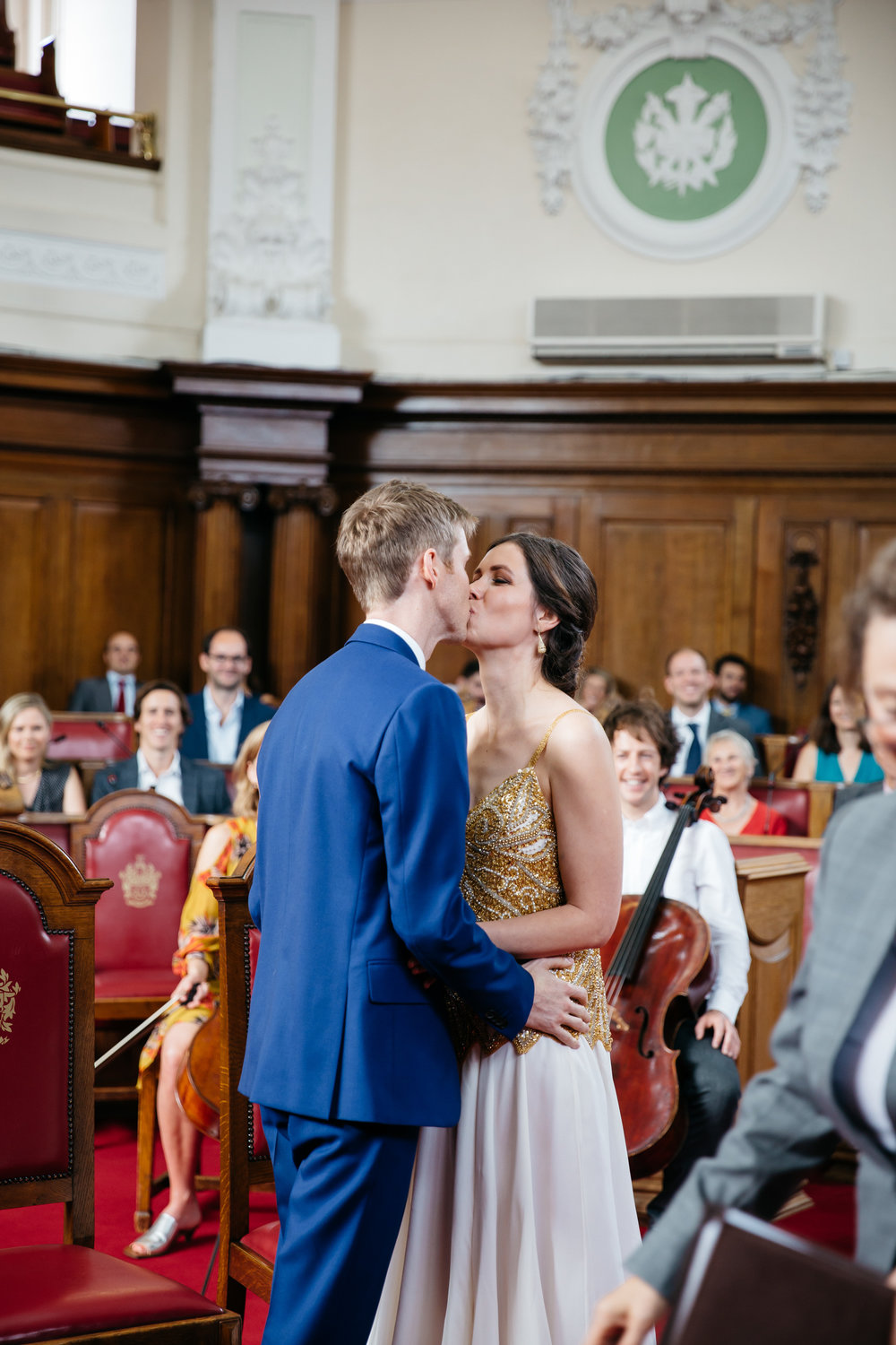 Just Married at Islington Town Hall - London Wedding Photographer