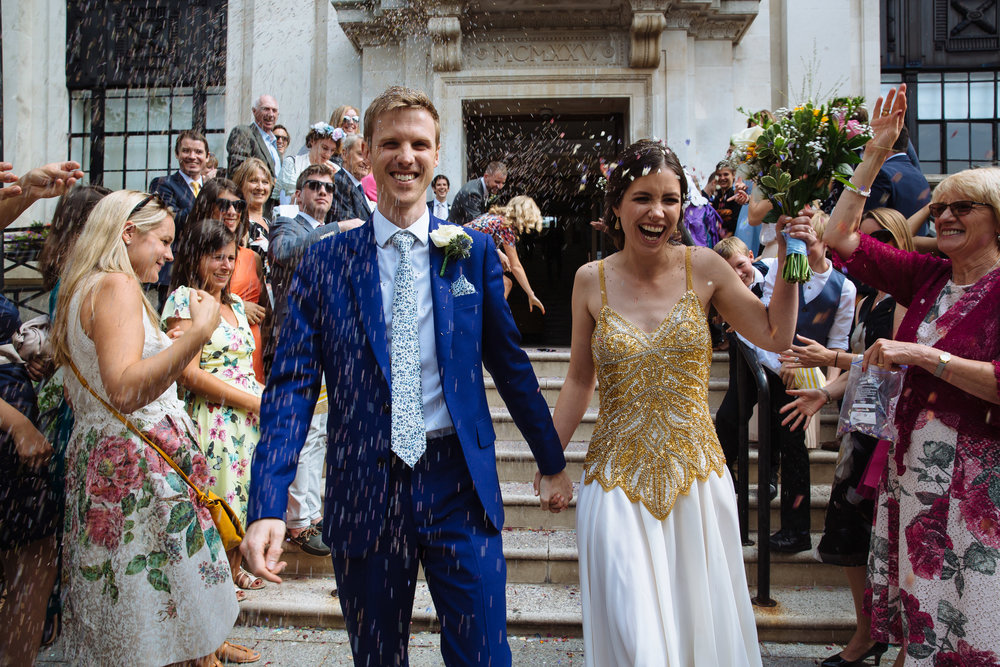 Islington Town Hall Confetti Shot London Wedding