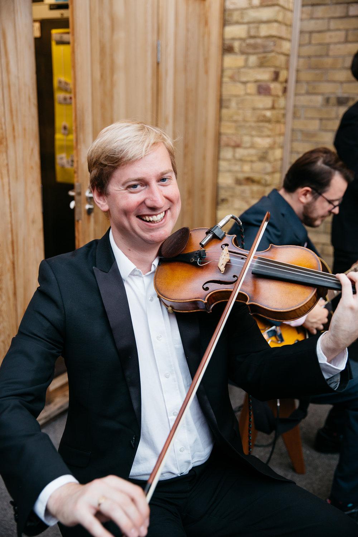 Violinist at Outdoor London Wedding - The Hot Club of Jupiter