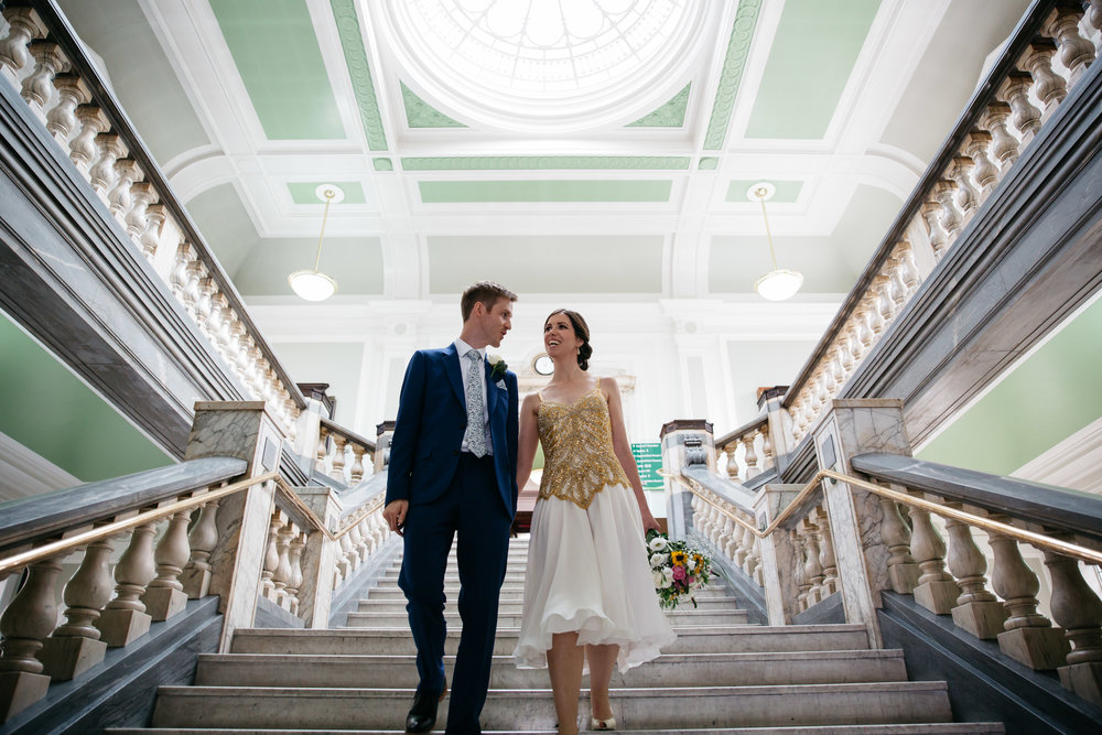 Bride & Groom just married at Islington Town Hall